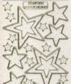 Micro-Glittersticker-W-3214Gtrg-Sterne-transparent/gold