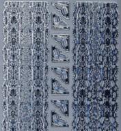 Zier-Sticker-Bogen-Ecken /Ränder-Ilex-silber-W7033s