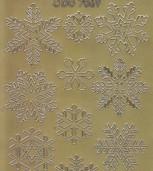 Zier-Sticker-Bogen-Eisblumen-Kristalle-gold-W-7069g