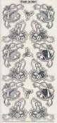 Zier-Sticker-Bogen-Ecken-weihnachtliche Motive-transparent/silber-W-7091trs
