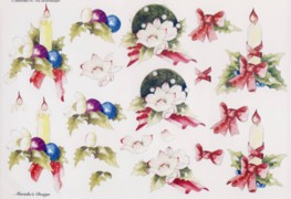 3D Bogen-Etappenbogen-Blumen/Kerzen-Marieke's Design-702