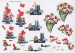3D Bogen-Etappenbogen-Blumengesteck/Kerzen-Marieke's Design-677