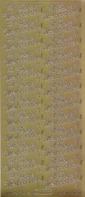 Zier-Sticker-Bogen-Frohe Weihnachten-gold-W 468g