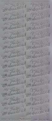 Zier-Sticker-Bogen-Frohe Weihnachten-silber-W 468s