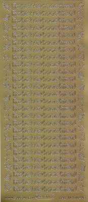 Zier-Sticker-Bogen-Frohe Weihnachten-gold-W 470g