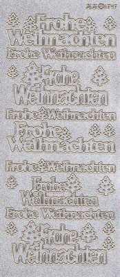 Diamant-Zier-Sticker-Frohe Weihnachten-silber-gold-W-1747dsg
