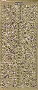 Zier-Sticker-Bogen-Eisblumen-Kristalle-gold-W-2288g