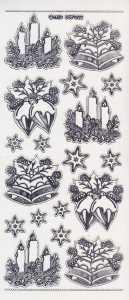 Zier-Sticker-Bogen-Weihnachtsmotive-transparent-silber-W-7002trs