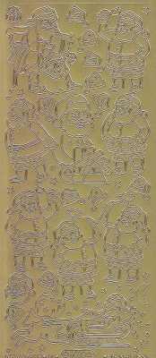 Zier-Sticker-Bogen-Nikolaus-gold-W 8523g