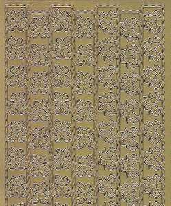 Zier-Sticker-Bogen-Ränder/Bordüren/Glocken-gold-W 8536g