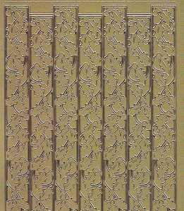Zier-Sticker-Bogen-Ränder/Bordüren/Ilex 2-gold-W 8545g