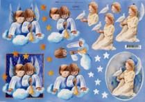 3D-Etappen-Bogen-Engel machen Musik-X0010