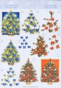 3D Etappen-Bogen-AV 1-Tannenbäume-rot-blau