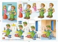 3D Etappen-Bogen-Klemptner und Elektriker -Card Deco- CD 10003