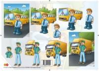 3D Etappen-Bogen-CD 10004-Busfahrer und LKW Fahrer -Card Deco