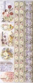 Geprägte Foliensticker-114-selbstklebend-Elfen,Blumen,Schmetterling,-Ränder mit Glitter
