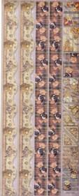 Geprägte Foliensticker-118-selbstklebend-Teddyränder und Ecken 2 mit Glitter