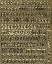 Zier-Sticker-Bogen-0075g-Alphabet-abc-gold