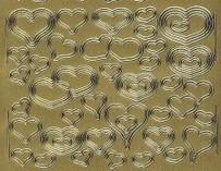 Zier-Sticker-Bogen-Herzchen -138g