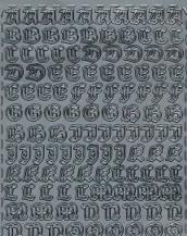 Zier-Sticker-Bogen-Alphabet-ABC-Gothic-286s