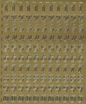 Zier-Sticker-Bogen-Zahlen-Gothic-288g