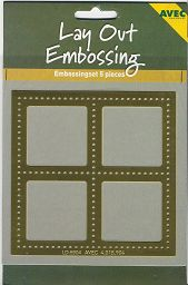 Lay Out-Embossing-Schablone 04