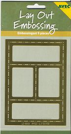 Lay Out-Embossing-Schablone 05