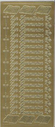Zier-Sticker-Bogen-Zur Kommunion-413g