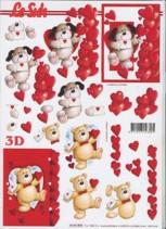 3D Etappen-Bogen-Teddy mit Herzchen/Hund mit Herzen-4169805