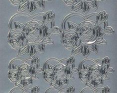 Zier-Sticker-Bogen-Rose im Herz-6307s