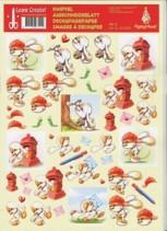 3D Etappen-Bogen -Mylo & Friends 11- Post - Briefe schreiben