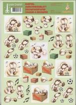 3D Etappen-Bogen -Mylo & Friends 08-Fussball spielen