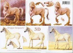 3D Etappen-Bogen-4169142-weiße Pferde / Schimmel