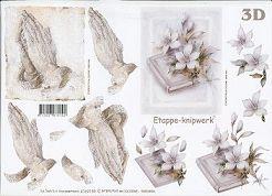 3D Etappen-Bogen-Betende Hände / Bibel-4169159