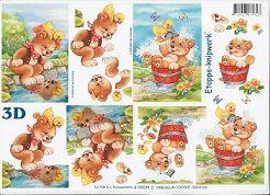 3D Etappen-Bogen Bärchen am See/ Bären-Waschtag-4169238