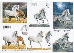 3D Etappen-Bogen-Pferde auf der Koppel/Schimmel im Galopp-416927