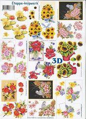 3D Etappen-Bogen / Blumen-Stäuße-4169373