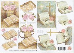 3D Etappen-Bogen-kirchliches-Motiv-Bibel mit Hintergrundmotiv-4169434