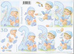 3D Etappen-Bogen -Zum 2ten und 3ten Geburtstag-Junge-4169620