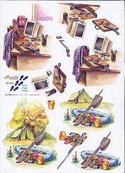 3D Etappen-Bogen-Camping/Angeln-Büro-821505