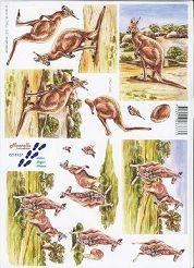 3D Etappen-Bogen- Kängurus-8215127