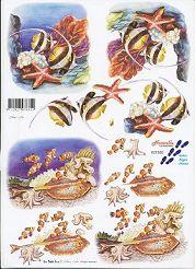 3D Etappen-Bogen-Aquarium / Meeresbewohner-821555