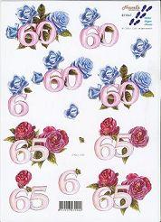 3D Etappen-Bogen-Jahreszahlen-60 und 65-821567