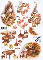 3D Etappen-Bogen-Musik-Instumente-821571