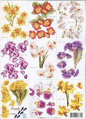 3D Etappen-Bogen / Frühlings-Blumen