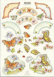 3D Etappen-Bogen-Schmetterlinge für Drehkarte