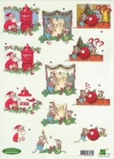 3D Bogen-Etappenbogen-Weihnachtsmaus-Klaver 4127