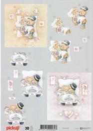 3D Etappen-Bogen-Bären Hochzeit-Pickup 032