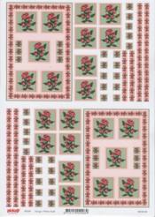 3D Etappen-Bogen-Röschen mit Hintergrund-Pickup 009
