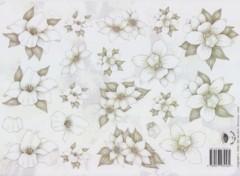 3D Etappen-Bogen-Blumen-grau Töne-v.V.2304